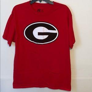 Men's Georgia t-shirt; size Large